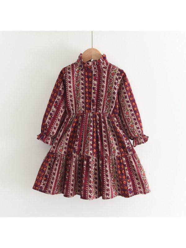 【2Y-9Y】Girls Long-sleeved Cake Dress