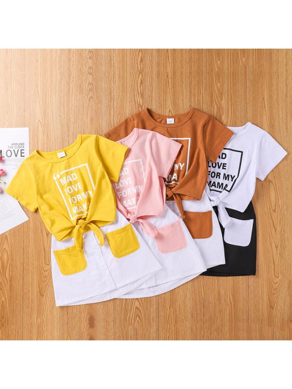 【18M-6Y】Children's Letter Print Suit Skirt