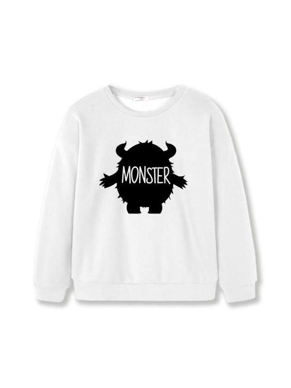 【12M-7Y】Girls Round Neck Long Sleeve Sweatshirt