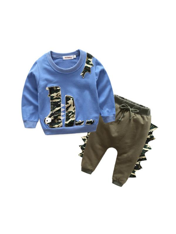 【6M-3Y】Boys Crocodile Print Casual Suit