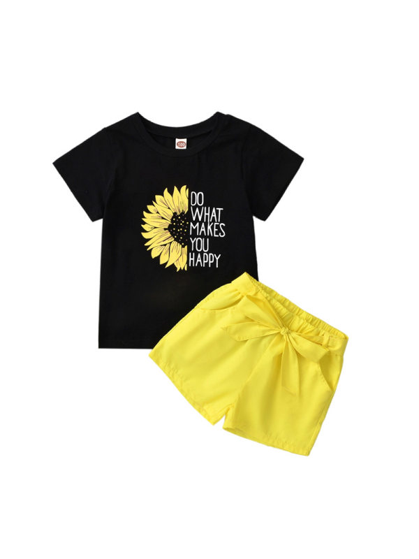 【18M-7Y】Girl's Sunflower Printed Suit