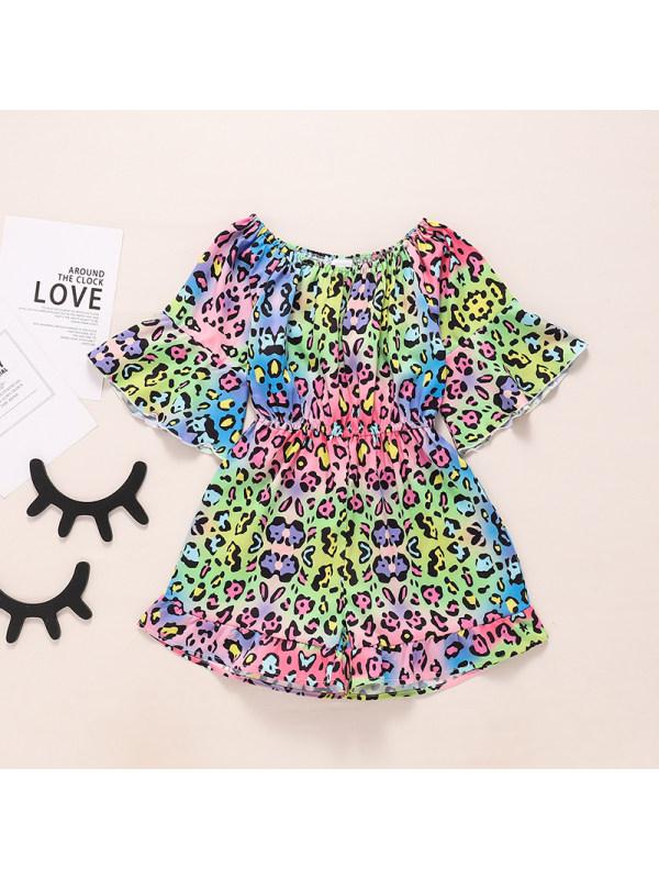 【18M-6Y】Leopard Print Jumpsuit For Girls