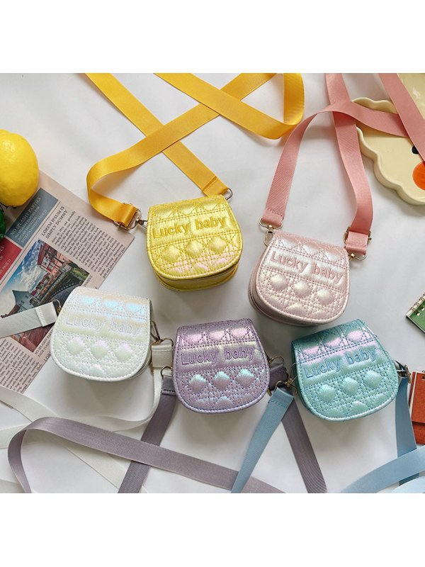 Girls Shiny Candy Color Bag