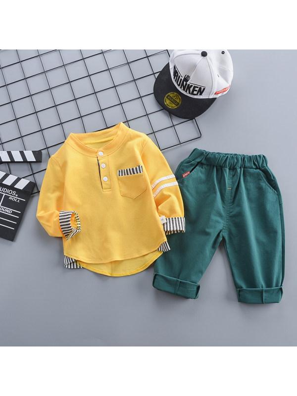【12M-4Y】Spring Children's Pocket Cardigan Set