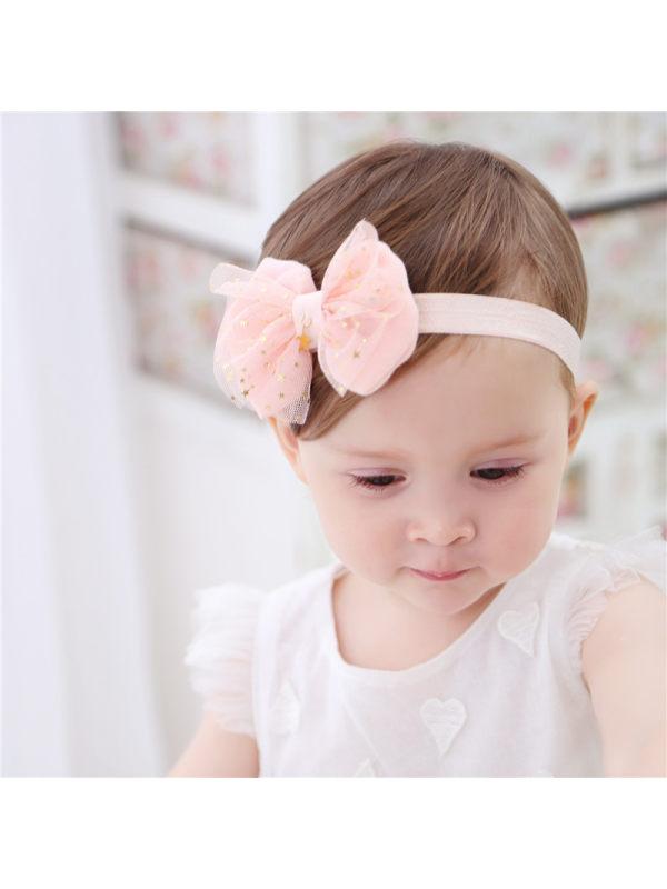 Bronzing Small Five-Star Bow Gauze Knot Headdress