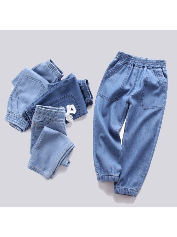 【2Y-11Y】Big Boys Mosquito Denim Harem Trousers