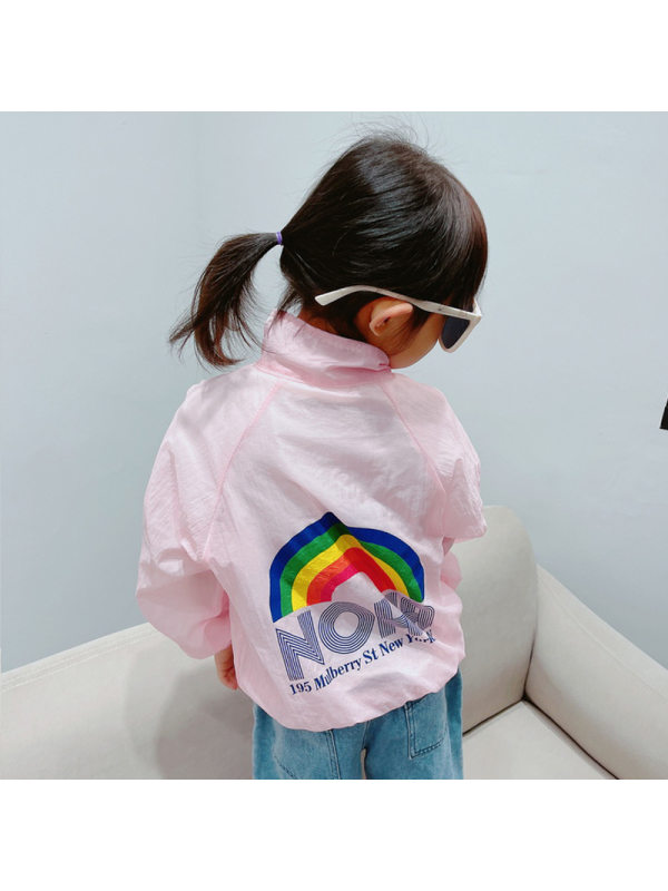 【18M-13Y】Girls Long Sleeve Cartoon Print Sunscreen Air Conditioner Jacket