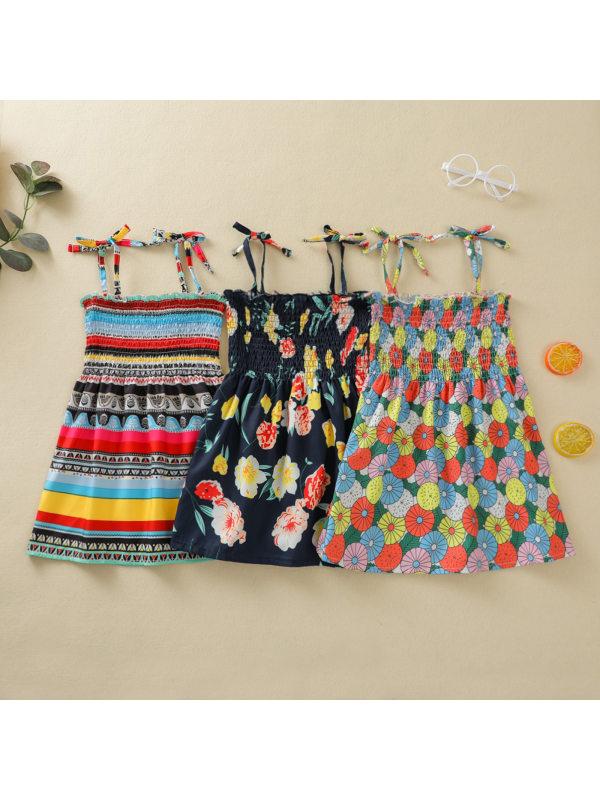 【12M-5Y】Girls Casual Sling Sweet Print Dress