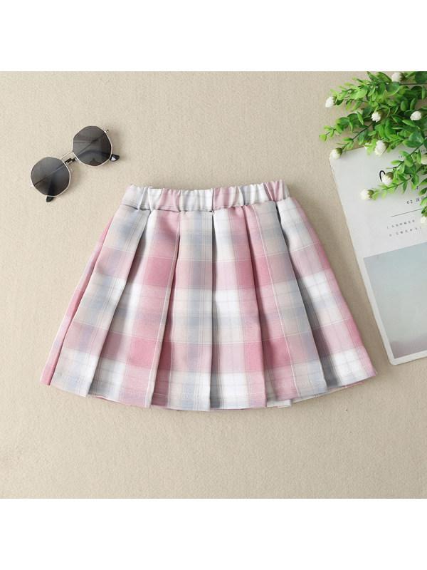 【3Y-13Y】Girls Plaid Pattern Skirt
