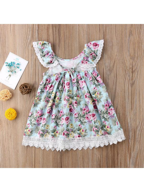 【2Y-9Y】Girl Sweet Floral Princess Dress