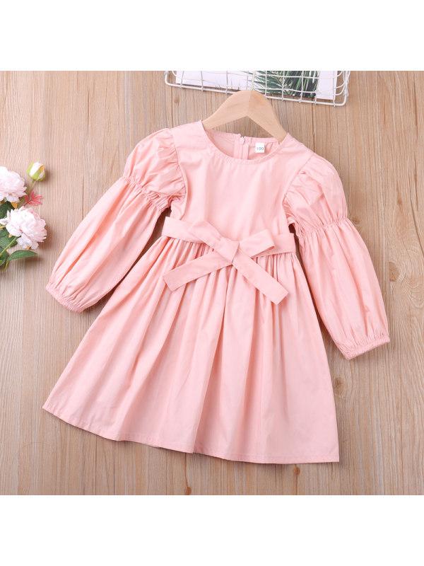 【18M-7Y】Girls Long Sleeve Cardigan Dress