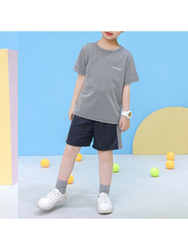 【2Y-13Y】Boys Summer Round Neck Short Sleeve Suit Thin Casual Sports Suit