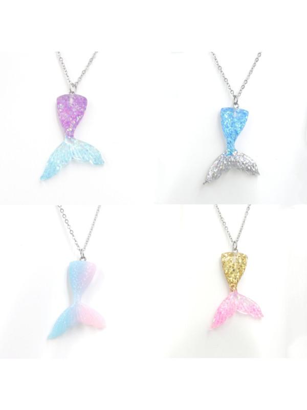 Girls Gradient Mermaid Necklace