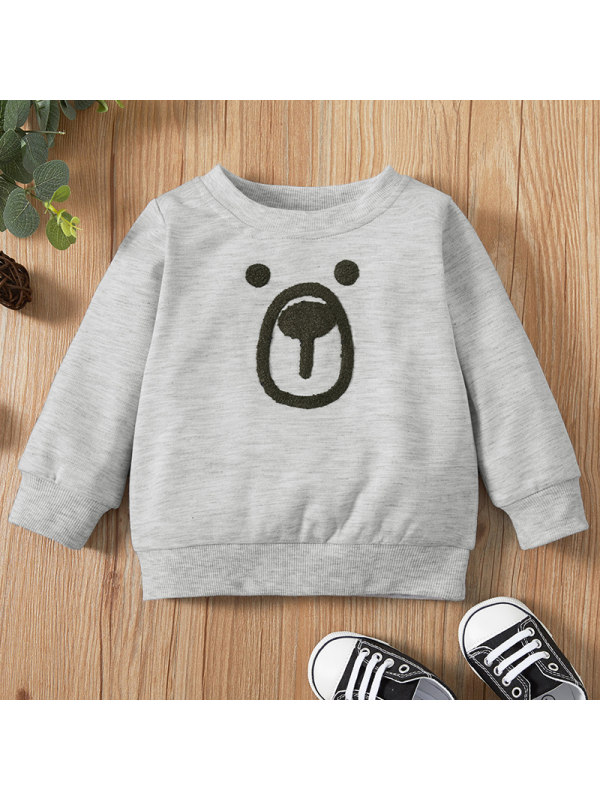 【6M-2.5Y】Baby Boy Casual  Grey Long Sleeve Sweatshirt