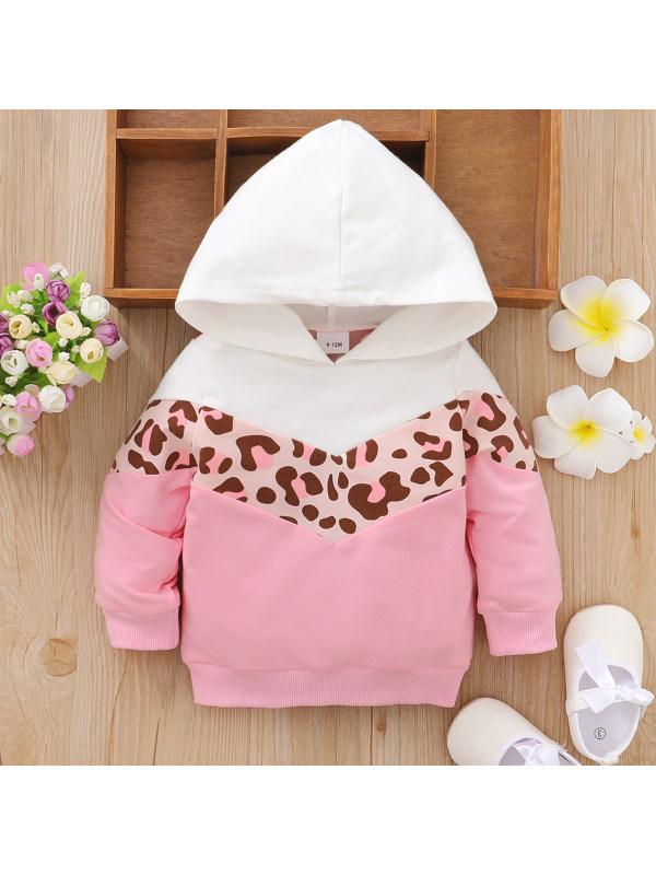 【3M-24M】Baby Cute Pink Long Sleeve Hoodie