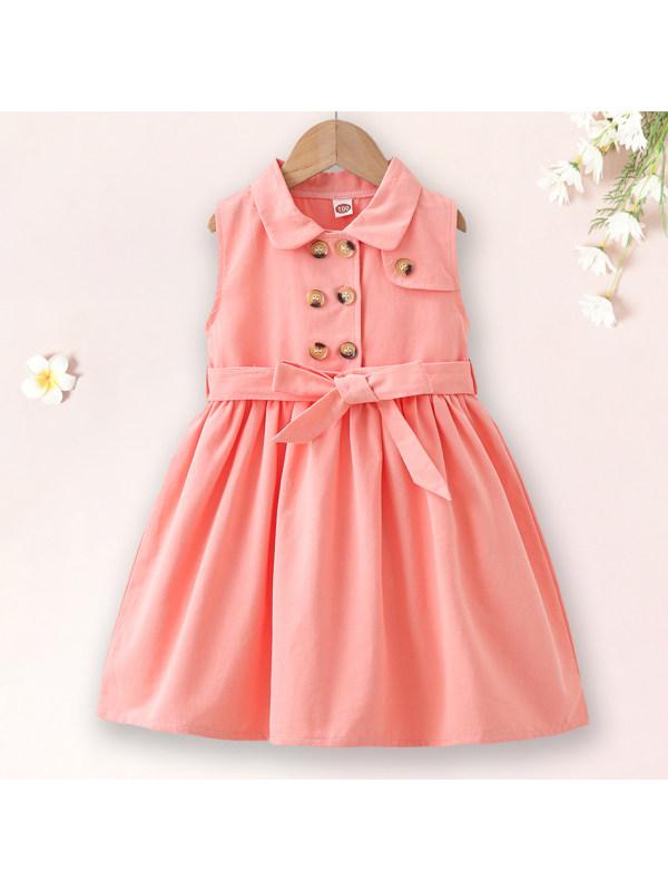 【18M-7Y】Sweet Pink Sleeveless Dress