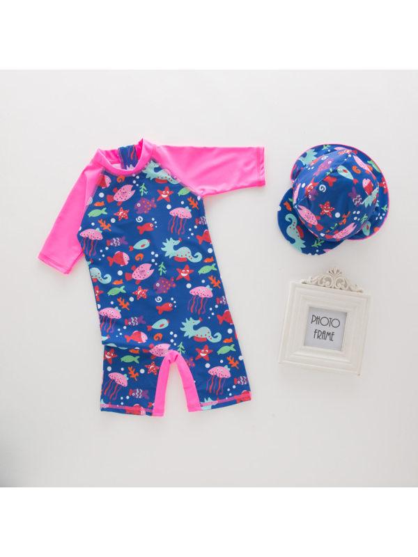 【18M-7Y】Girls One-piece Swimsuit