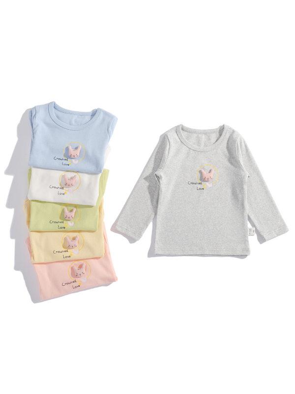 【18M-7Y】Girls Cartoon Print Long-sleeved T-shirt