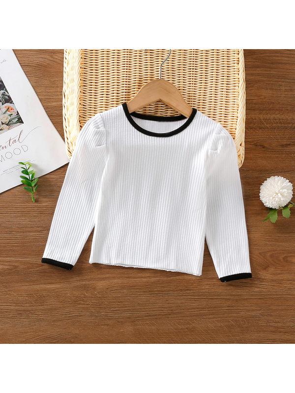 【12M-5Y】Girls Bottoming Long Sleeve T-shirt