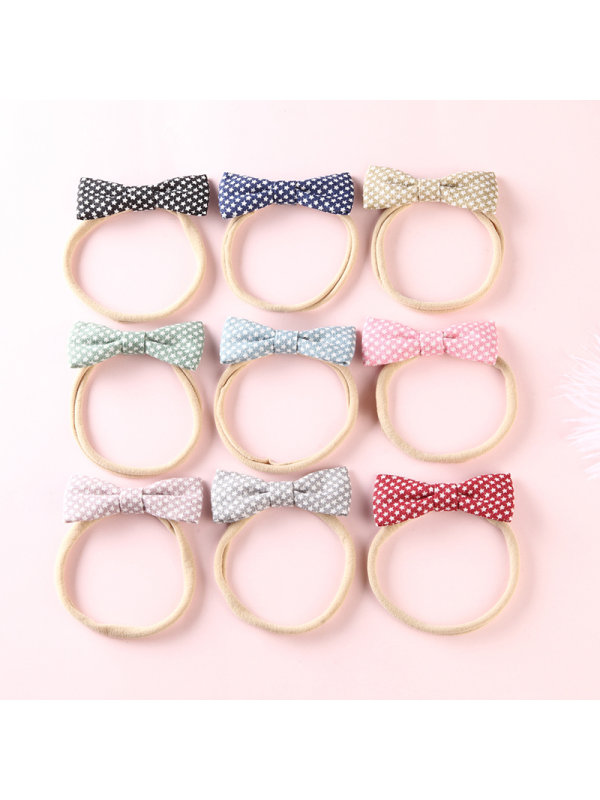 Five-pointed Star Cotton And Linen Fabric Bow Hair Rope