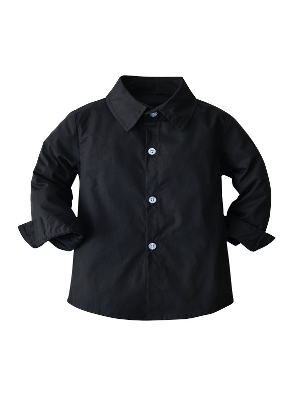 【18M-7Y】Boys Solid Color Long-sleeved Bottoming Shirt