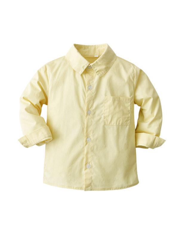 【12M-9Y】Boys Long Sleeve Shirt