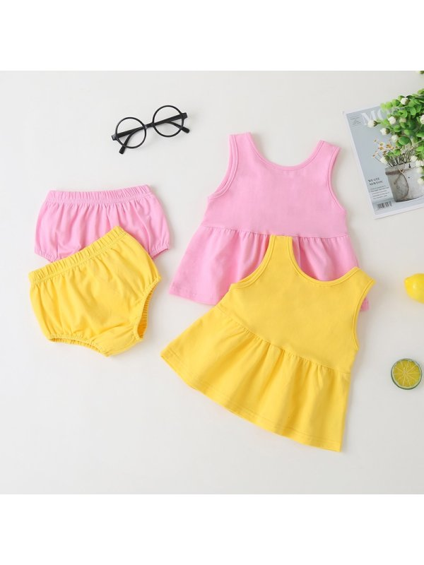 【12M-5Y】Girls' Personalized Sleeveless Wings Suit