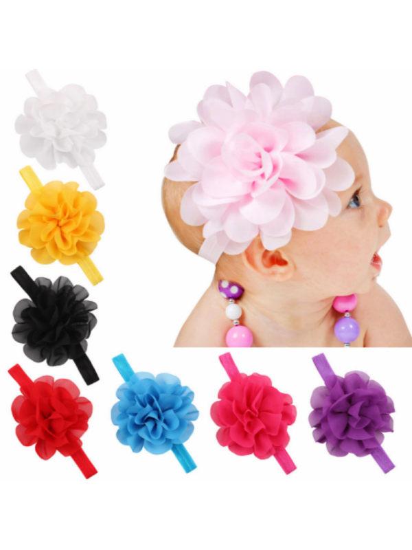 Baby Elastic Chiffon Flower Headband Hairband