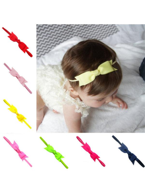Double Ribbed Ribbon Bow Headband