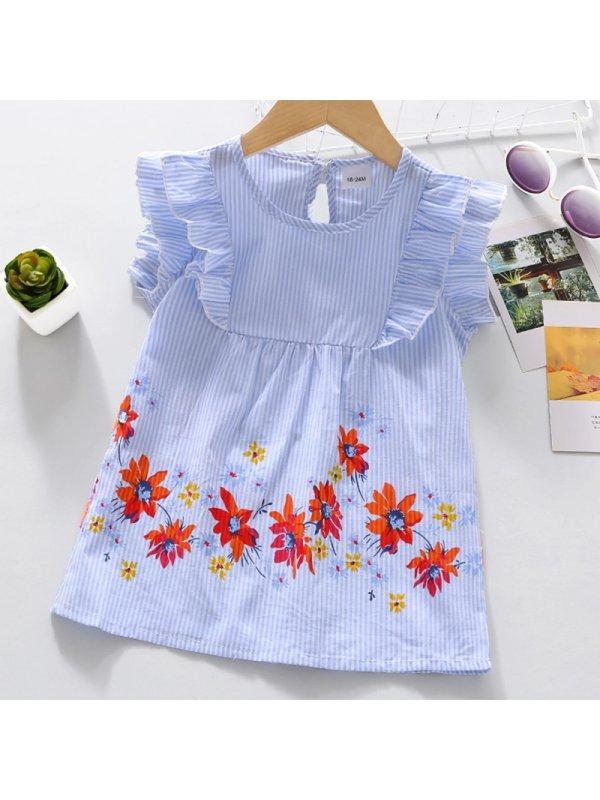 【18M-7Y】Girl Sweet Short Sleeve Shirt