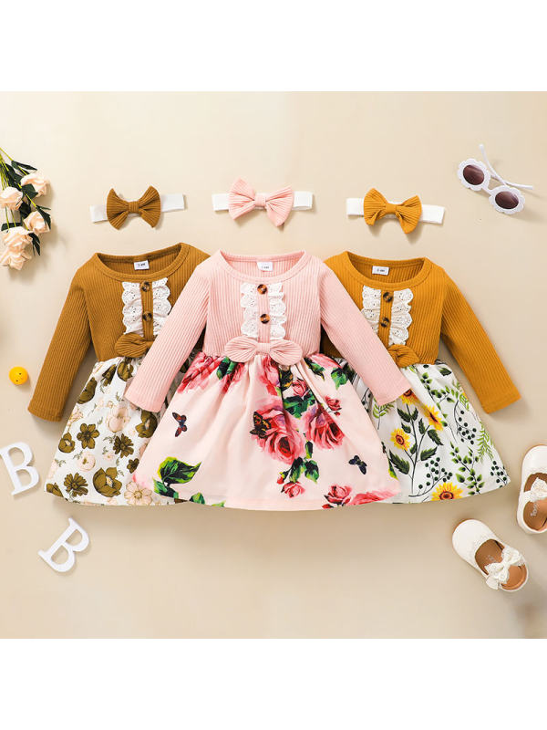 【3M-3Y】Baby Casual Floral Print Dress