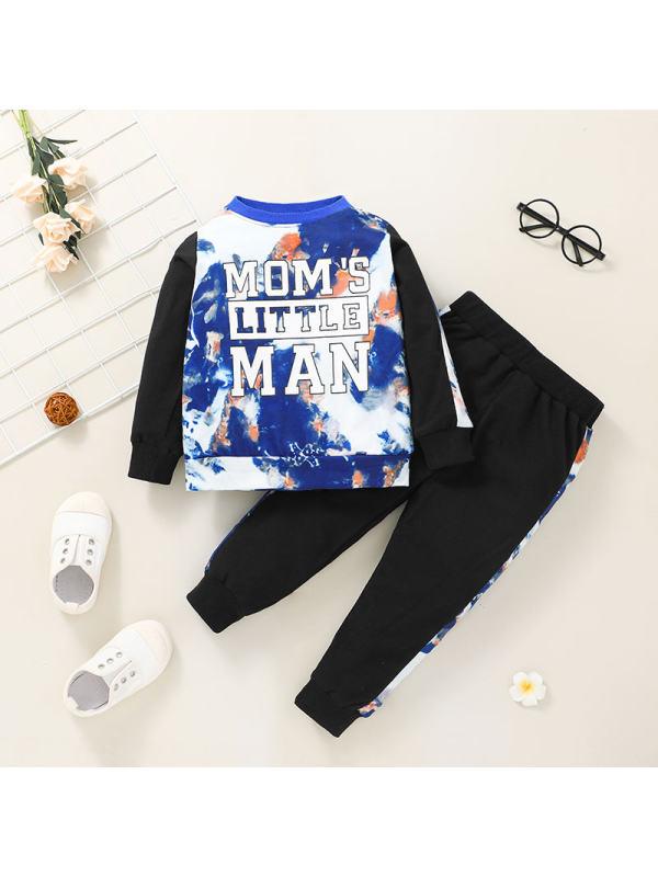 【12M-5Y】Boys Casual Tie-dye Pullover Suit