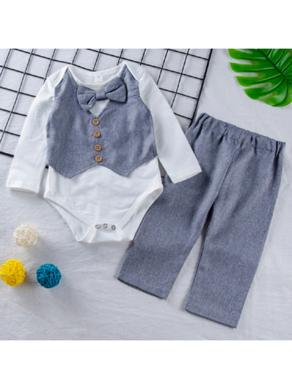 【6M-3Y】Boys' Trousers And Romper Suit