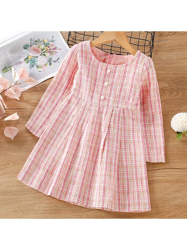 【12M-5Y】Girl Sweet Tweed Long Sleeve Dress