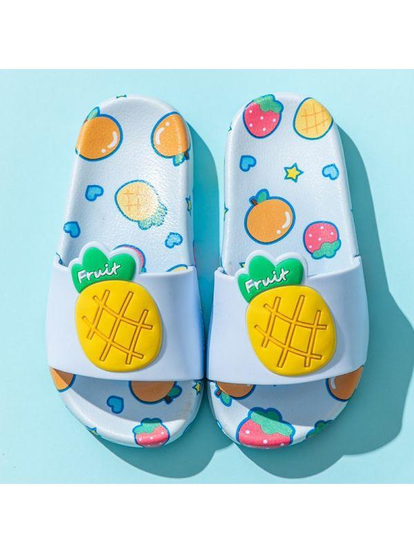 Kid Cute Cartoon Fruit Print Slippers