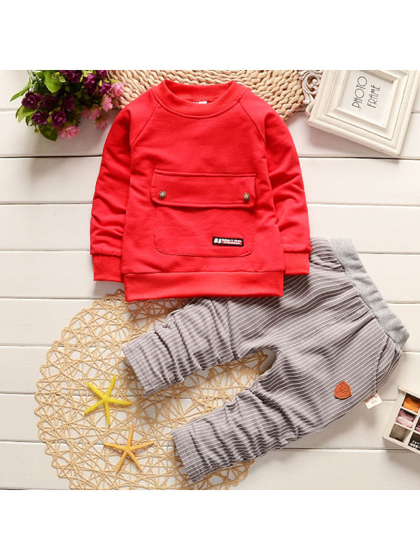 【12M-4Y】Boys Casual Sweater Pants Set