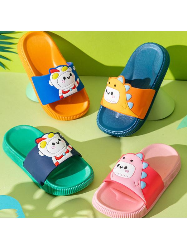 Kid Dinosaur Cartoon Beach Sandals and Slippers