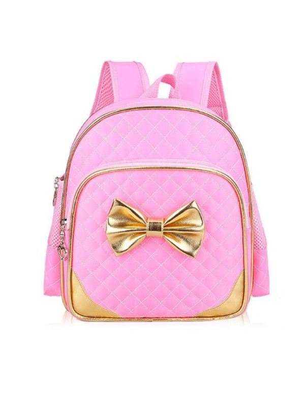 Girl's Bow Sweet And Cute Student Schoolbag