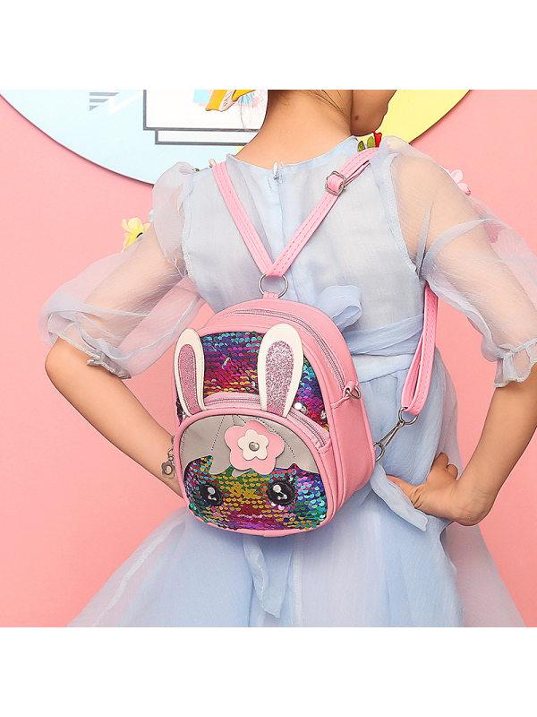 Sequins Big Eyes Girl Cute Backpack Schoolbag
