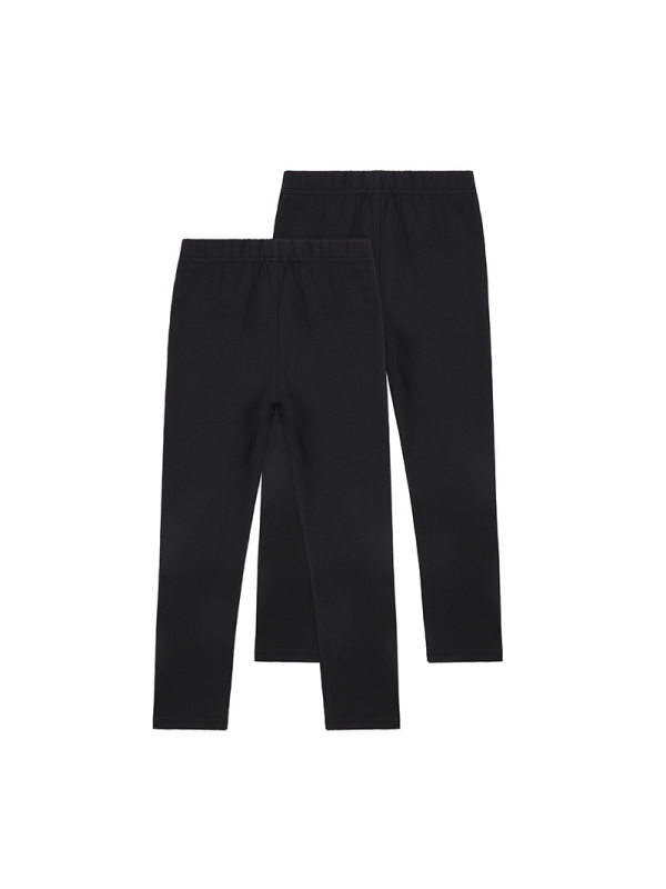 【18M-9Y】Two-piece Knit Solid Color Long Leggings For Girls