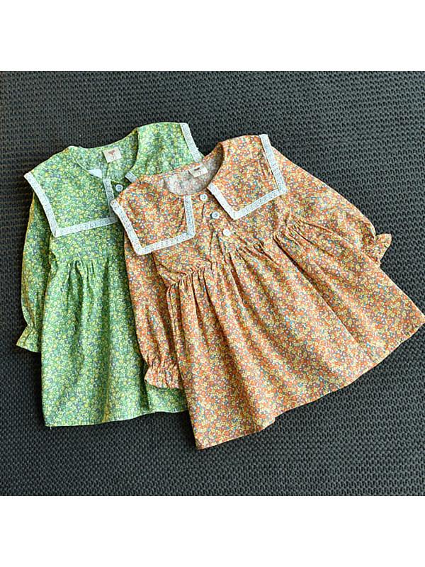 【18M-7Y】Girls Little Fresh Floral Dress