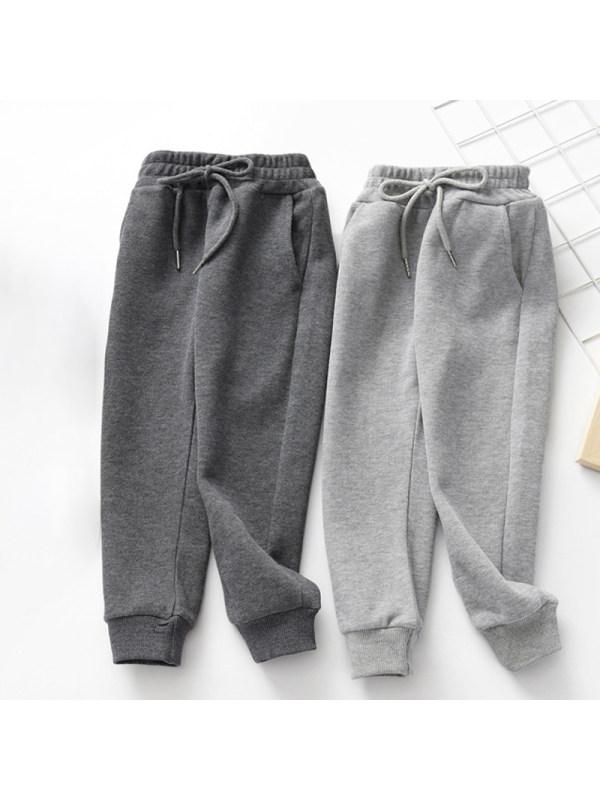 【3Y-11Y】Boys Solid Color Loose Casual Sport Trousers
