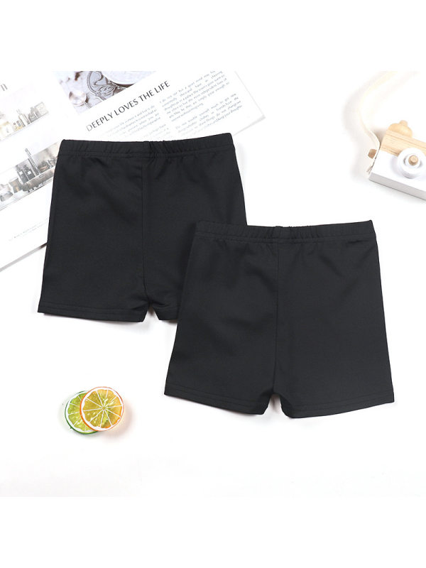 【18M-9Y】Girls Two-piece Solid Color Breathable Sweat-absorbent Outer Shorts