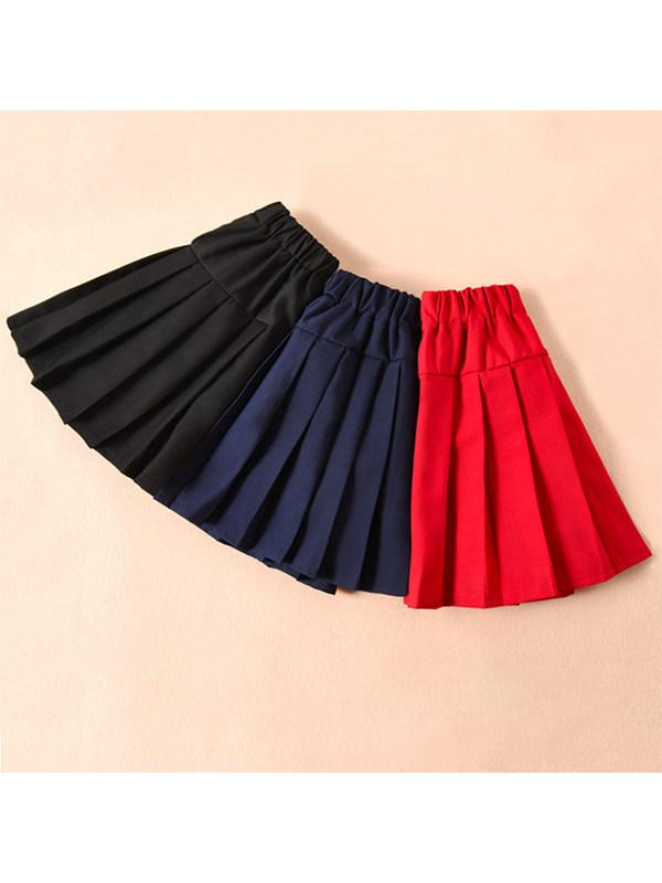 【3Y-15Y】Big Girl Pleated Skirt Skirt