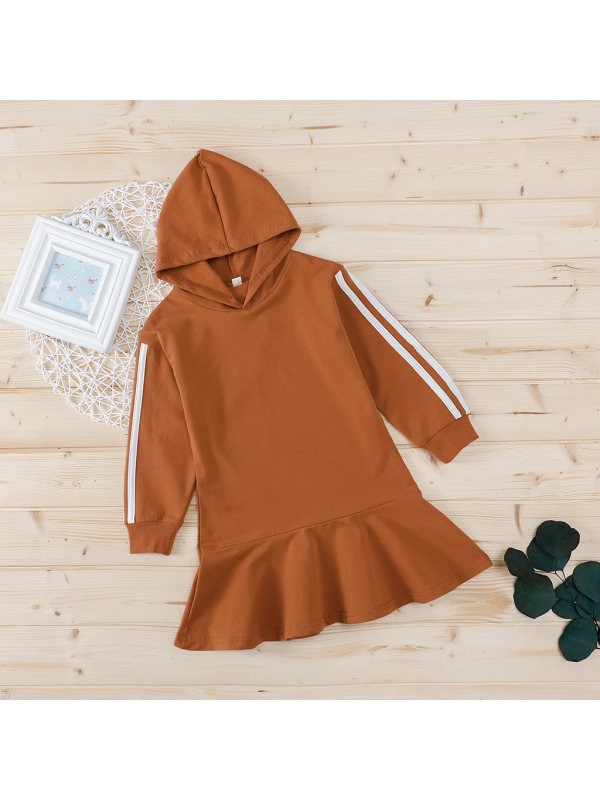 【12M-4Y】Girls Casual Hooded Dress