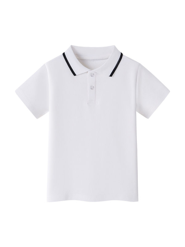 【2Y-13Y】Boys Short-sleeved Polo Shirt T-shirt