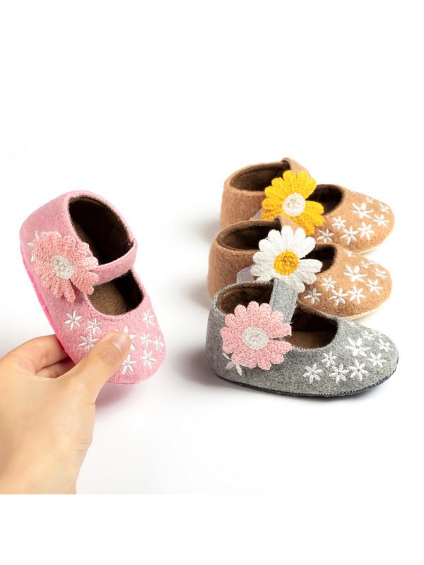 Girls Cute Flower Decoration Shoes