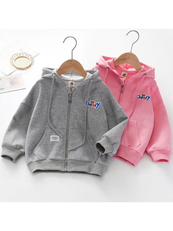 【3Y-11Y】Kids Casual Hooded Zipper Outwear