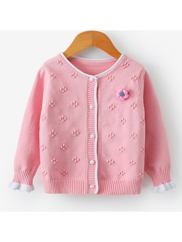 【18M-7Y】Girl Sweet Woolen Cardigan