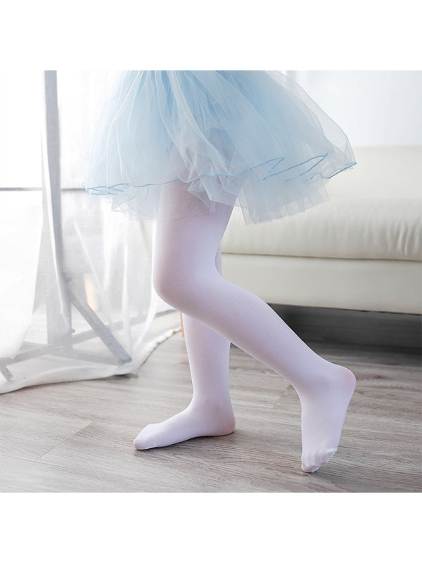 Girls Solid Color Leggings Tights